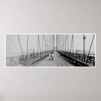 Brooklyn Bridge 1907 Poster