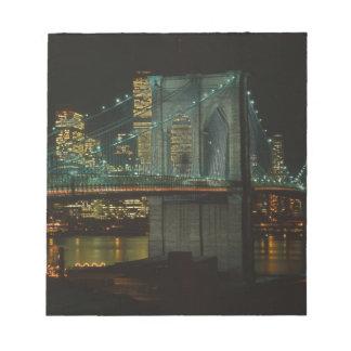 Brooklyn Bridge 1982 Note Pad