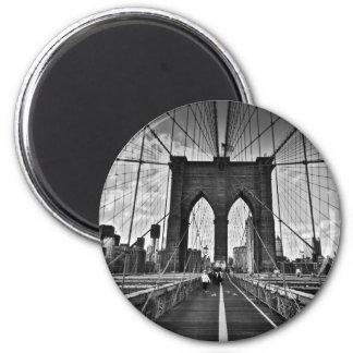 Brooklyn Bridge 2 Inch Round Magnet