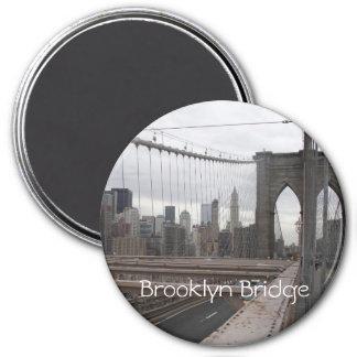 Brooklyn Bridge 3 Inch Round Magnet