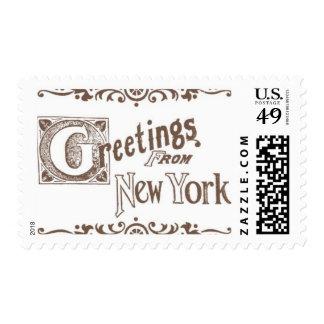 Brooklyn Bridge A by Ceci New York Postage