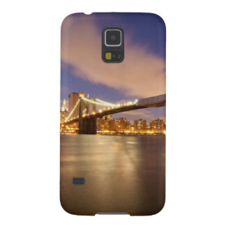 Brooklyn Bridge and Manhattan at Night. Case For Galaxy S5