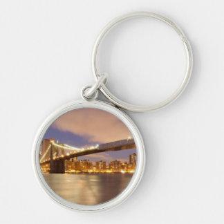 Brooklyn Bridge and Manhattan at Night. Keychains
