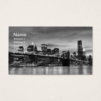 Brooklyn Bridge and Manhattan Skyline At Night Business Card