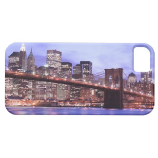 Brooklyn Bridge and Manhattan Skyline At Night iPhone 5 Cases