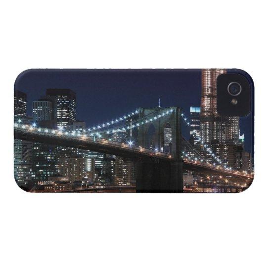 Brooklyn Bridge and Manhattan Skyline At Night Case-Mate iPhone 4 Case