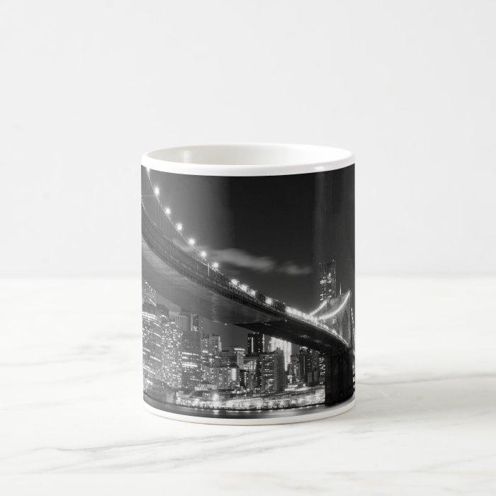 Brooklyn Bridge and Manhattan Skyline At Night Coffee Mug