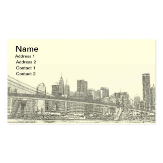 Brooklyn Bridge and Manhattan Skyline Business Card