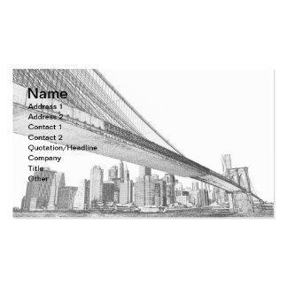 Brooklyn Bridge and Manhattan Skyline Business Cards