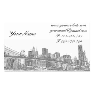 Brooklyn Bridge and Manhattan Skyline Double-Sided Standard Business Cards (Pack Of 100)