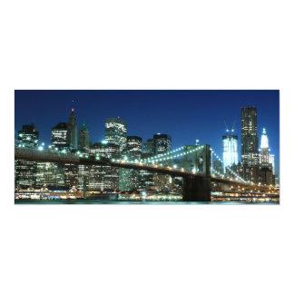 Brooklyn Bridge and Manhattan Skyline Custom Invites