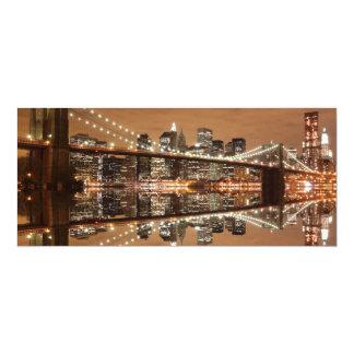 Brooklyn Bridge and Manhattan Skyline Custom Announcement