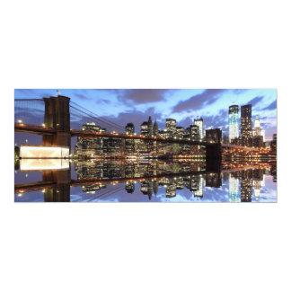 Brooklyn Bridge and Manhattan Skyline Custom Invitation