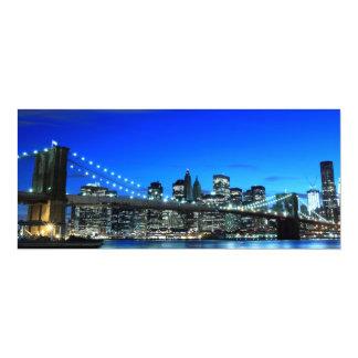 Brooklyn Bridge and Manhattan Skyline Custom Announcements