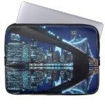 Brooklyn Bridge and Manhattan Skyline Laptop Computer Sleeve