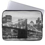 Brooklyn Bridge and Manhattan Skyline Computer Sleeve