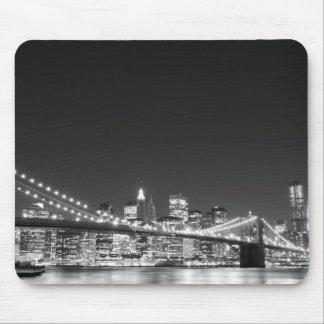 Brooklyn Bridge and Manhattan Skyline Mousepads