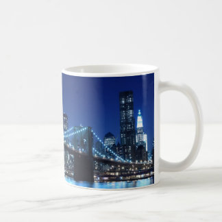 Brooklyn Bridge and Manhattan Skyline Coffee Mugs