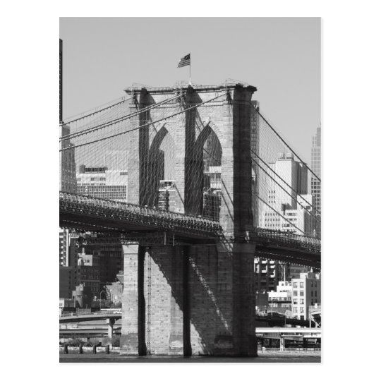 Brooklyn Bridge and Manhattan Skyline Postcard