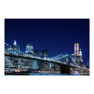 brooklyn bridge posters zazzle. Black Bedroom Furniture Sets. Home Design Ideas