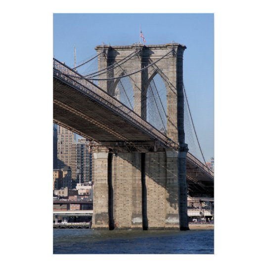 Brooklyn Bridge and Manhattan Skyline Poster