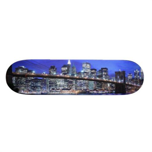 Brooklyn Bridge and Manhattan Skyline Skate Board Deck