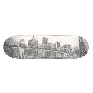 Brooklyn Bridge and Manhattan Skyline Skateboard Deck