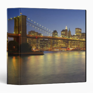 Brooklyn Bridge and New York City buildings 3 Ring Binder