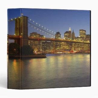 Brooklyn Bridge and New York City buildings 3 Ring Binder