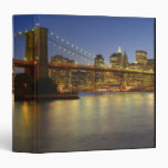 Brooklyn Bridge and New York City buildings Vinyl Binder
