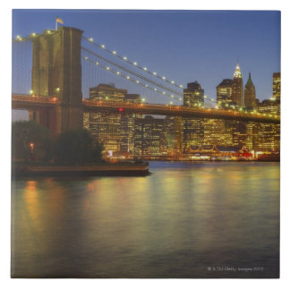 Brooklyn Bridge and New York City buildings Ceramic Tile