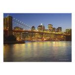 Brooklyn Bridge and New York City buildings Custom Invites