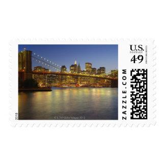 Brooklyn Bridge and New York City buildings Postage