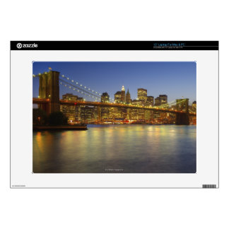 Brooklyn Bridge and New York City buildings Laptop Decal