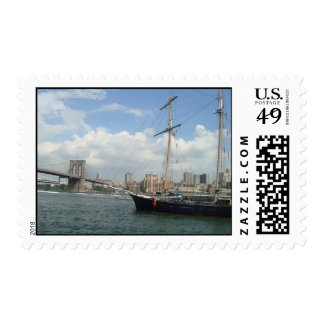 Brooklyn Bridge and South St. Seaport Postage