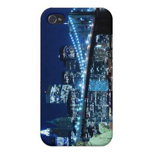 Brooklyn Bridge and The Statue of Liberty iPhone 4/4S Cases