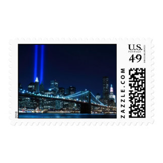 Brooklyn Bridge and the Towers of Light Stamp
