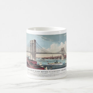 Brooklyn Bridge and Vintage Print Coffee Mug