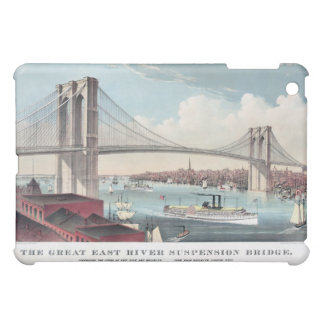 Brooklyn Bridge and Vintage Print iPad Mini Cover