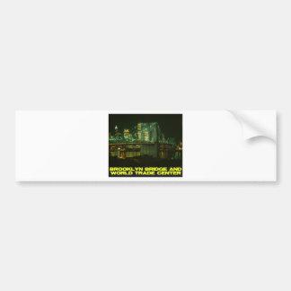 Brooklyn Bridge and World Trade Center Bumper Sticker