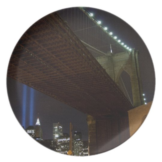 Brooklyn Bridge and WTC Tribute in Light Melamine Plate