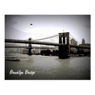 Brooklyn Bridge Art Postcards