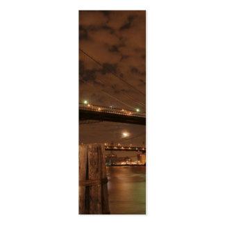 Brooklyn Bridge at Night Business Card Templates