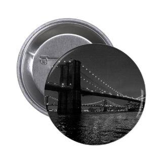 Brooklyn Bridge At Night Pinback Button