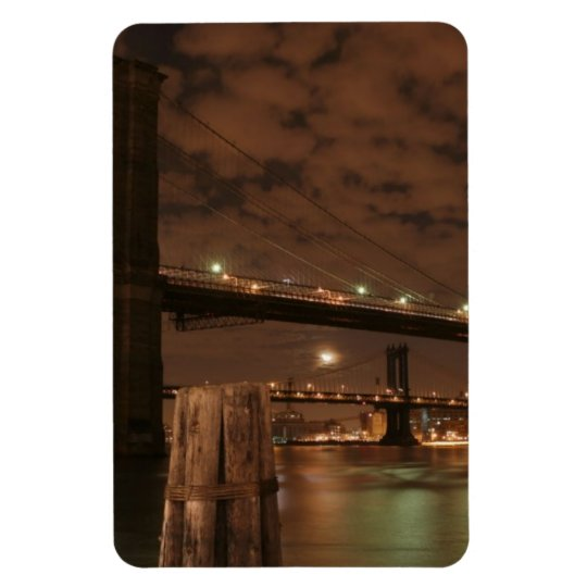 Brooklyn Bridge at Night Magnet