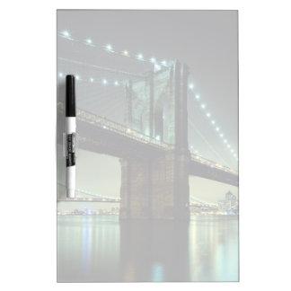 Brooklyn Bridge at night  Manhattan Bridge Dry-Erase Whiteboard
