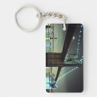 Brooklyn Bridge at night  Manhattan Bridge Acrylic Keychain