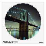 Brooklyn Bridge at night  Manhattan Bridge Wall Graphic