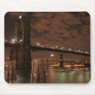 Brooklyn Bridge at Night Mousepads