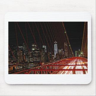 Brooklyn Bridge at Night Mouse Pads